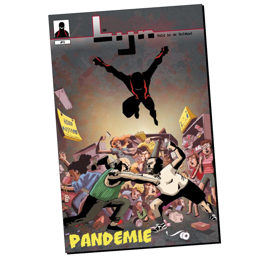 De Lijn #01 geprinte comic over Haagse superheld door Hugo Seriese